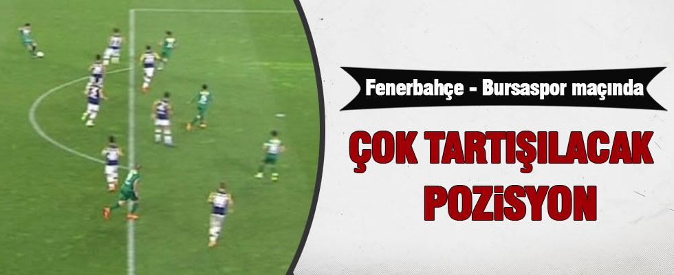 Fenerbahçe-Bursaspor maçına damga vuran pozisyon