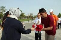 OSMAN BOYRAZ - AK Parti Adayı Boyraz, Maltepe Sahilinde Karanfil Dağıttı