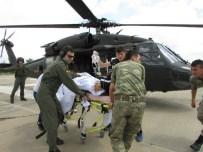 BEYİN SARSINTISI - Tunceli'deki Kazada Yaralanan 1 Kişi Helikopterle Elazığ'a Getirildi