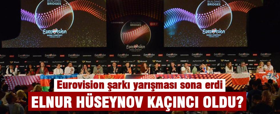 Eurovision şarkı yarışması sona erdi