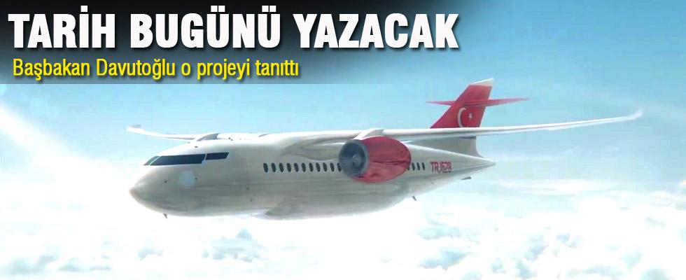 Başbakan Davutoğlu yerli uçak projesini tanıttı