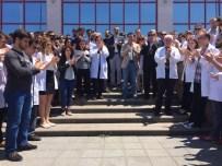 GENÇ DOKTOR - Tıp Fakültesi Hastanesi Çalışanları Saldırıyı Kınadı