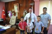 MUHAMMED ÇETIN - Ataşbak, Şampiyon Cimnastikçileri Kabul Etti