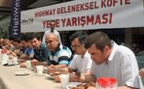 MEHMET USTA - Bolu'da Köfte Yeme Yarışmasında Babalar Kıyasıya Yarıştı