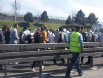 METROBÜS YOLU - Metrobüs yolunda feci kaza!
