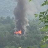 Çatalpınar'da Çatı Yangını