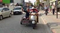 ENGELLİLER KONFEDERASYONU - MHP'li Kadın Aday Sepetli Motosikletle Seçim Turu Attı