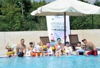 ENGELLİ BAKIM MERKEZİ - Spastik Engelli Çocukların Havuz Keyfi