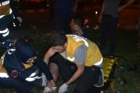 MOBESE KAMERASI - Bilecik'te Trafik Kazası, 1 Kişi Yaralı