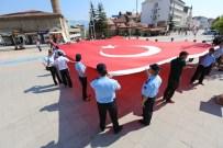 Bolu'dan Sarıkamış'a 96 M2 Dev Türk Bayrağı Gönderildi