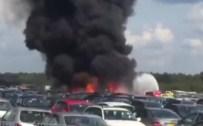 Uçak Araba Pazarına Düştü Açıklaması 4 Ölü
