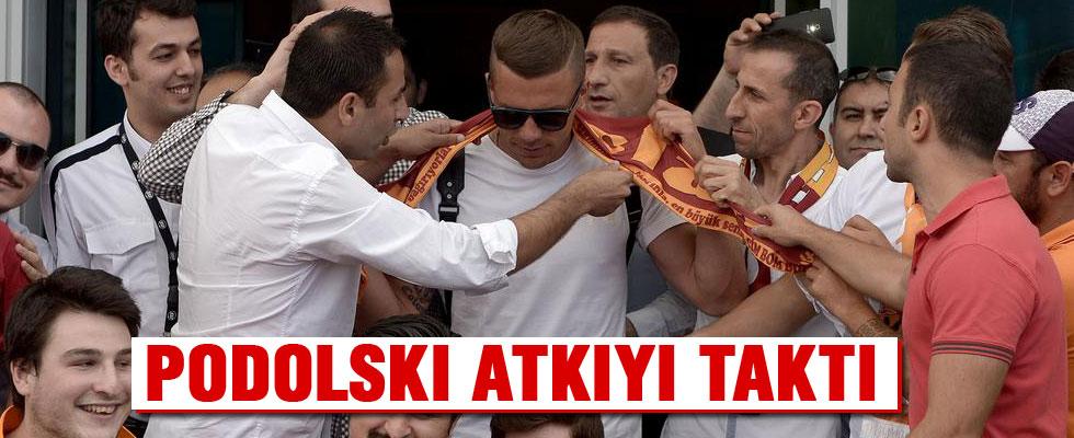Podolskı, İstanbul'a geldi