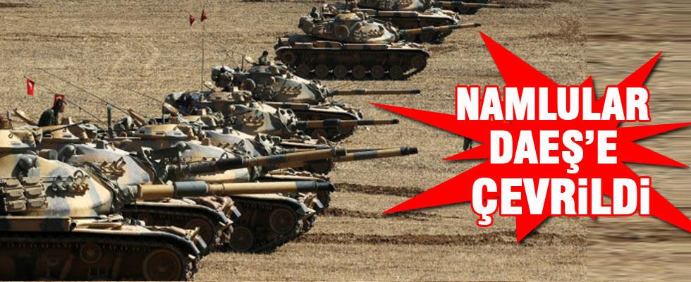 Tankların namluları Suriye tarafına çevrildi