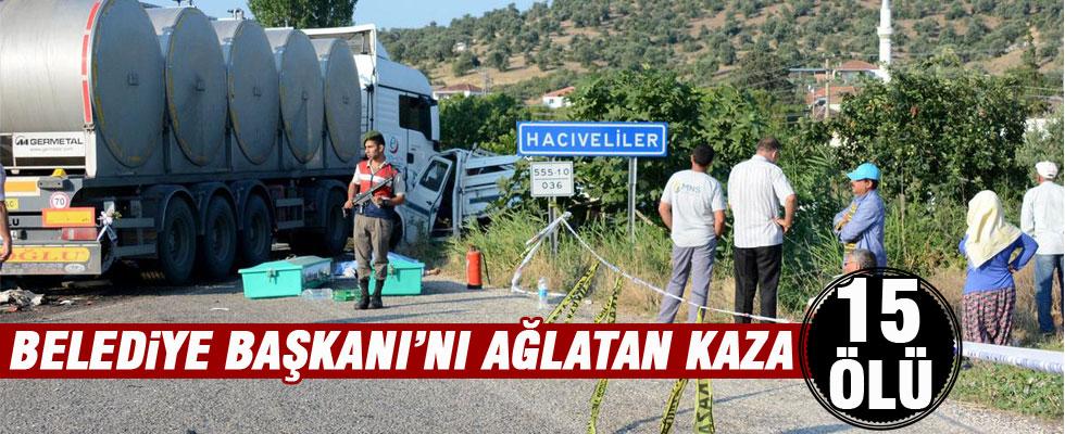 Tarım işçilerini taşıyan kamyon kaza yaptı: 15 ölü