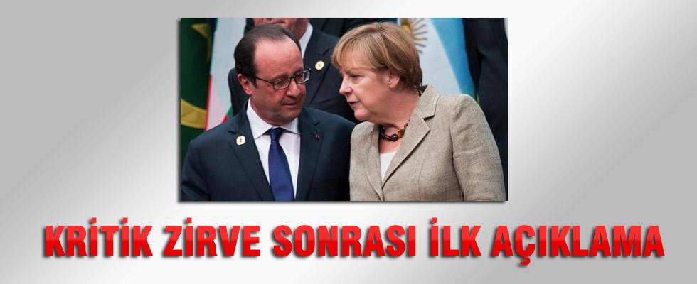 Yunanistan zirvesi sona erdi