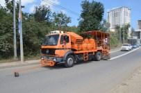Trabzon Büyükşehir Belediyesi'den Yol Çizgi Çalışması