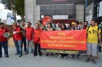 ŞÜKRÜ GENÇ - Sarıyer Belediyesi İşçilerinden CHP Binası Önünde Protesto