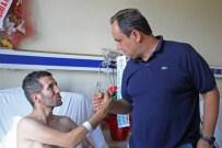 Başkan Aksu'dan Gazi Kaya'ya Geçmiş Olsun Ziyareti