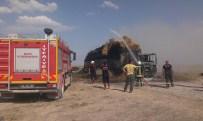 Konya'da Seyir Halindeki Saman Yüklü Tır Yandı