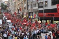 RECEP ÇETIN - Balıkesir'de Şehide Saygı Teröre Lanet Yürüyüşü