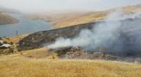 Elazığ'da Arazi Yangını Badem Ağaçlarına Da Zarar Verdi