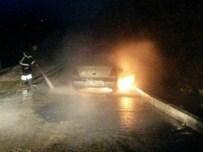 KOZCAĞıZ - Seyir Halindeki Otomobil Alev Alev Yandı