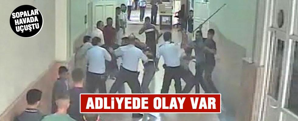 Adana Adliyesi'nde arbede