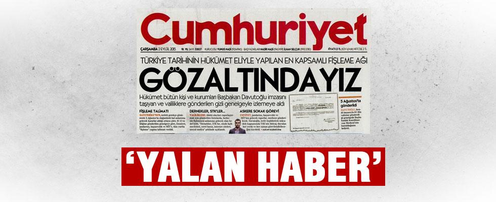 Başbakanlık'tan Cumhuriyet'in haberine yalanlama