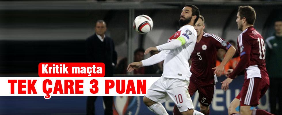 Türkiye ile Letonya maçında hedef 3 puan