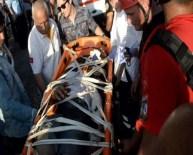 Kurbanlık Taşıyan Kamyon Uçuruma Yuvarlandı Açıklaması 1 Yaralı