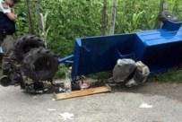 GÜRLEK - Gediz'de Çapa Motoru Dereye Yuvarlandı, 1 Kişi Öldü, 2 Kişi Yaralandı