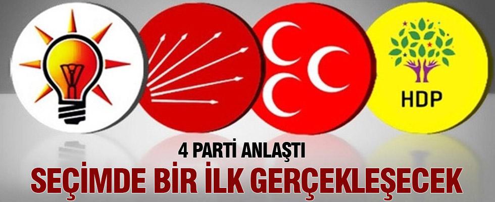 4 parti anlaştı, 1 Kasım'da bir ilk gerçekleşecek