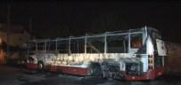 ASARLıK - Terör Yandaşları Molotofla Otobüs Yaktı