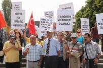 ENGELLİLER KONFEDERASYONU - Engellilerden Terör Protestosu