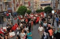 Kırıkkale'de Teröre Lanet, Şehide Saygı Yürüyüşü