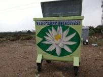 TAZMANYA - Karacabey'de Çöp Konteynırları Çiçek Açtı