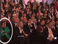 Eşi Kılıçdaroğlu'nu dinlerken uyuyakaldı