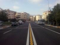 TRAFİK LEVHASI - Kocaeli'de 150 Kilometre Yol Çizgisi Yenilendi
