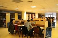 KURUPELIT - OMÜ Kütüphanesine Yoğun İlgi