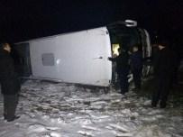 Elazığ'da Yolcu Otobüsü Devrildi Açıklaması 16 Yaralı