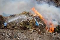 İTFAİYE ERİ - Bodrum Çöplüğü Alev Alev Yandı