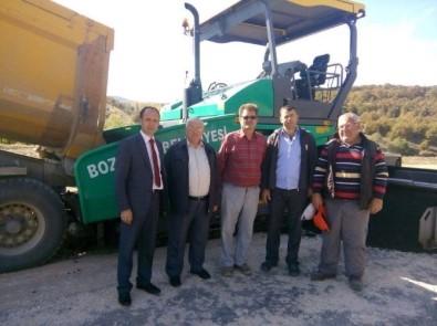 Bozüyük'te Köy Yolları Asfaltlanıyor