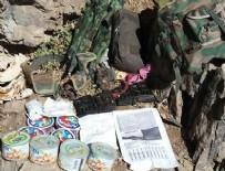 POLİS ÖZEL HAREKAT - Hakkari Kovan Tepe'de mağara içinde cephanelik bulundu