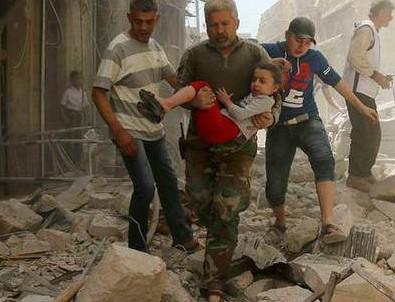 Halep'teki yerleşim alanına saldırı