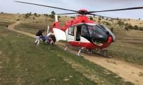 ONDOKUZ MAYıS ÜNIVERSITESI - Ambulans Helikopter Vurulan Çoban İçin Havalandı