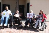 NİKAH SARAYI - Engelli Aktivistlerden Protesto Eylemi