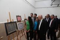 MUSTAFA TALHA GÖNÜLLÜ - Adıyaman Üniversitesinde Ebru Sergisi Açıldı