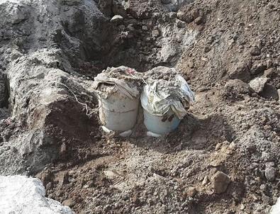 Erzurum'da yola tuzaklanan patlayıcı imha edildi