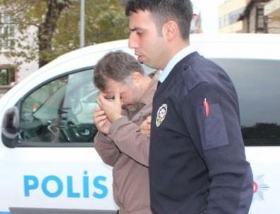 Polisi gören FETÖ'cü battaniyenin altına saklandı