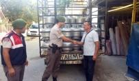 ALAÇATı - Başbakan'ın İzmir Ziyareti Öncesi Bir Kamyon Tüp Çalan Şüpheliler Yakalandı